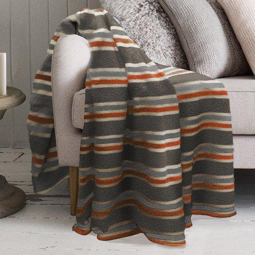 Winston Porter Robin Striped Polyester Blanket