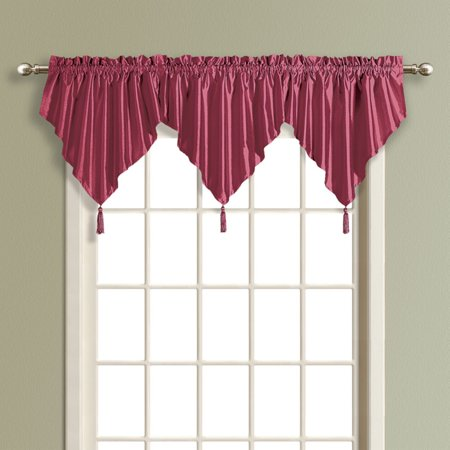 United Curtain Anna Faux Silk Ascot Valance