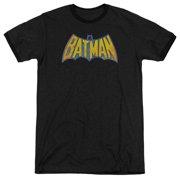 DC Comics Batman Neon Distress Logo Adult Ringer T-Shirt Tee