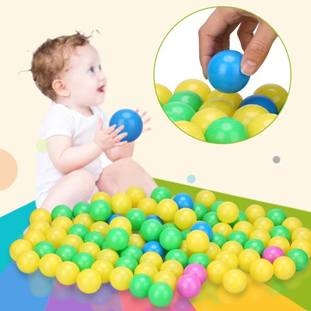 100pcs/set Soft Plastic Colorful Children Kids Secure Ocean Balls Baby Pits Swim Toys 4cm, Kid Ball, Baby Pits ()