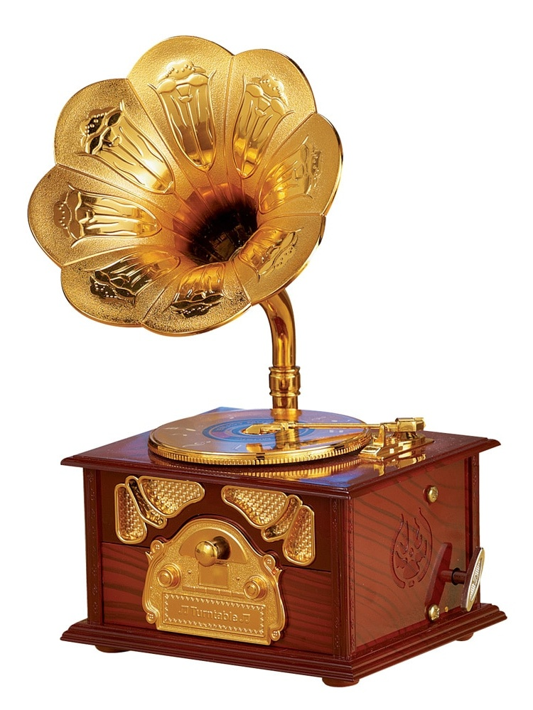Old Fashioned Gramophone Music Box Keepsake by Collections Etc