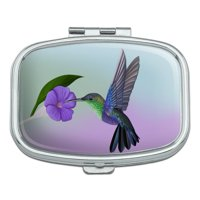 Hummingbird Crowned Woodnymph Purple Violet Rectangle Pill Case Trinket Gift Box