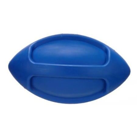 JW Pet Company iSqueak Funble Football Dog Toy, Medium (Colors Vary) The new iSqueak Funble Football Medium is a squeaky durable natural rubber ball. This sporty toy is meant to be tossed, passed, carried, and chewed. Available in fun bright colors, this size football is suitable for medium breed canine athletes.Size : MediumFeatures :Squeaky natural rubber fun ballPerfect for pass and playDurable chew toyAvailable in a variety of colorsSuitable for medium breed canine athletes