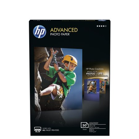 - HP Advanced Photo Paper, Glossy, 4x6, 50 Sheets