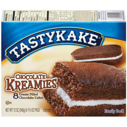 Tastykake: Kreamies Cream Filled Chocolate 8 Ct Cakes, 12 Oz