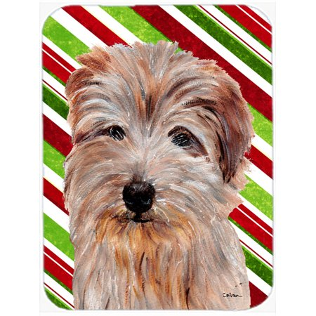 Norfolk Terrier Candy Cane Christmas Mouse Pad, Hot Pad or Trivet SC9808MP