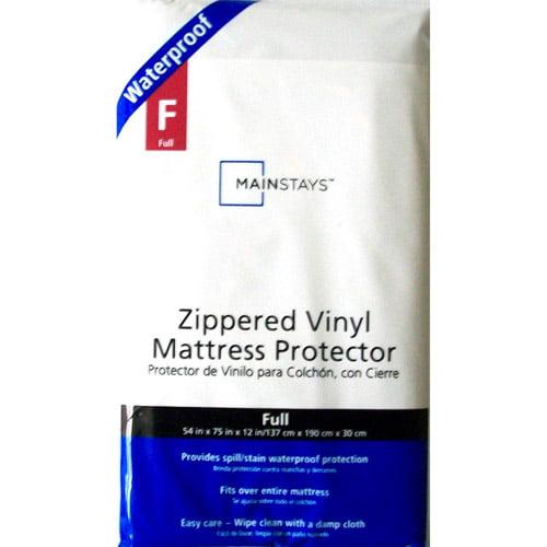 Mainstays Waterproof Vinyl Zippered Mattress Protector