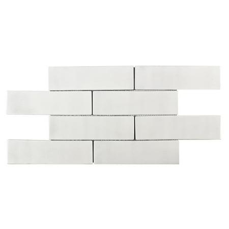 MTO0244 Modern 2X8 Subway Luxury Crackle White Glazed Ceramic Mosaic Tile