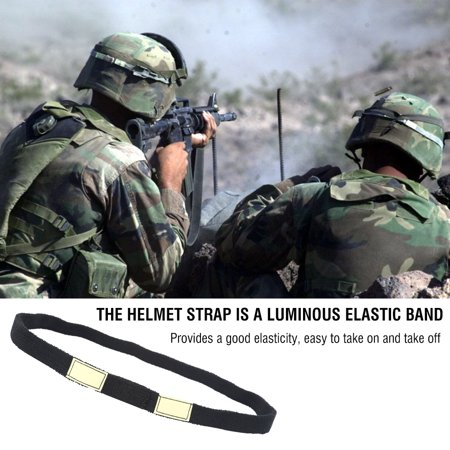 Helmet Strap,Zerone Reflective Camo Strap Helmets Band for M1 M88 MICH Military Helmet