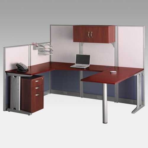 Bush Office-in-an-Hour U-Shaped Computer Desk with Storage