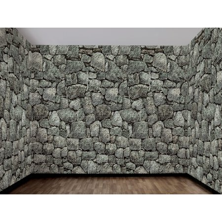 Dungeon Décor Stone Wall Backdrop Halloween Decoration - Stone Backdrop