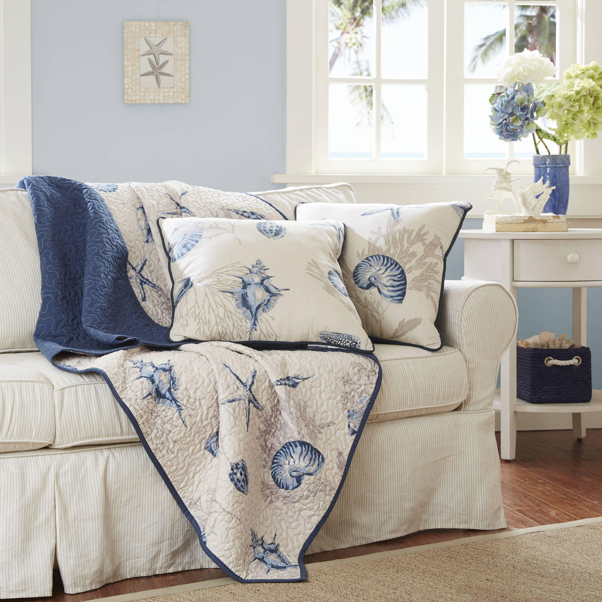 Home Essence Nantucket Oversized Quilted Throw