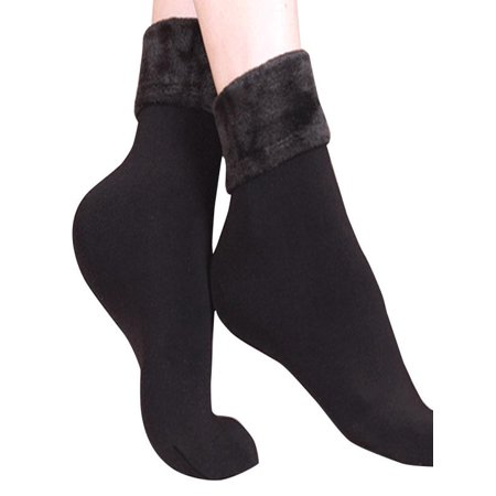 OkrayDirect Wool Cashmere Women Thicken Thermal Soft Casual Solid Winter Socks