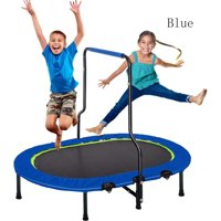 enyopro Parent-Child Twin Trampoline, Kids Trampoline with Handrail & Safety Cover, Mini Trampoline for 2 Kids, Child Toddler Jumping Trampoline for Indoor/Outdoor, No-Spring Band Rebounder, B1059