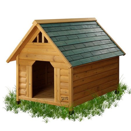 Pet squeak alpine lodge dog house walmartcom for Pet squeak dog house
