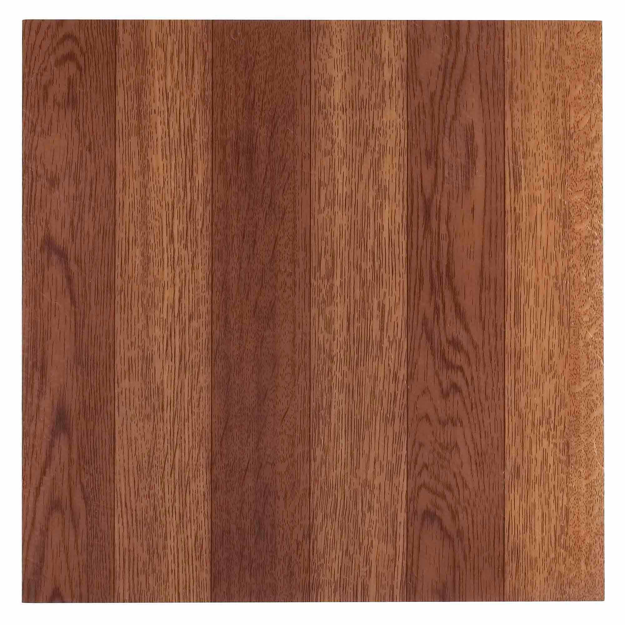 NEXUS Medium Oak Plank-Look 12x12 Self Adhesive Vinyl Floor Tile - 20 Tiles/20 Sq.Ft.