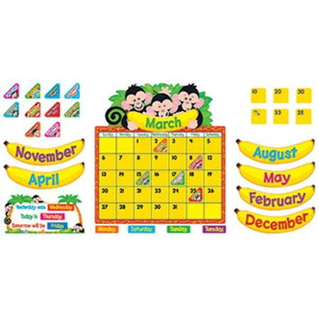 Monkeys Calendar - TREND ENTERPRISES INC. T-8340 MONKEY MISCHIEF CALENDAR BB SET