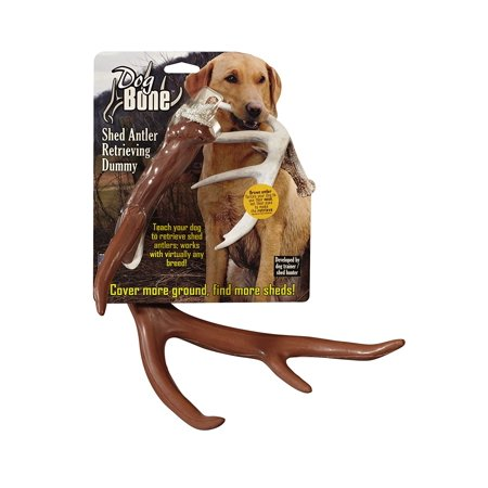 Retrieving Dummy - Shed Dummy Retrieving Antler, Brown, Blends in forcing dog to use nose and not just vision By Dog Bone from USA