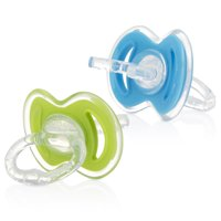 Nuby 2 Pack Gum-eez Teether, Blue and Green