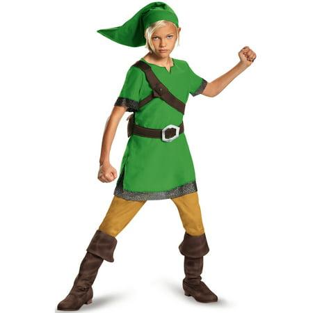 Zelda Link Classic Child Halloween Costume (Link And Zelda Costume)