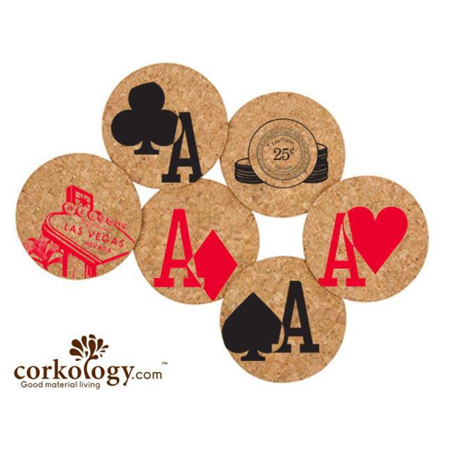 Corkology 385 Welcome To Vegas Cork Coaster Sets by Corkology