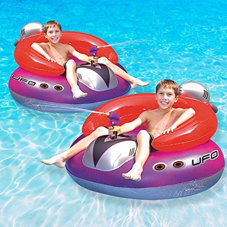 Swimline UFO Squirter Swimming Pool Floating Game, 2-Pack