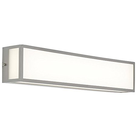 New Modern Vanity Light | Frosted LED Brushed Nickel Wall Mounted Lighting | Vertical Or Horizontal Box Light | 3000K Warm White 24