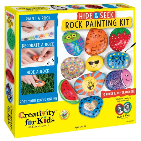 Hide & Seek Rock Painting Kit - Craft Kit by Creativity for Kids - Easy Painting Ideas For Kids