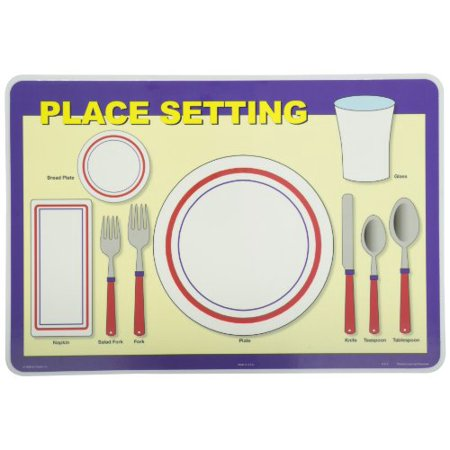 Painless Learning Place Setting Placemat (Wedding Place Settings)