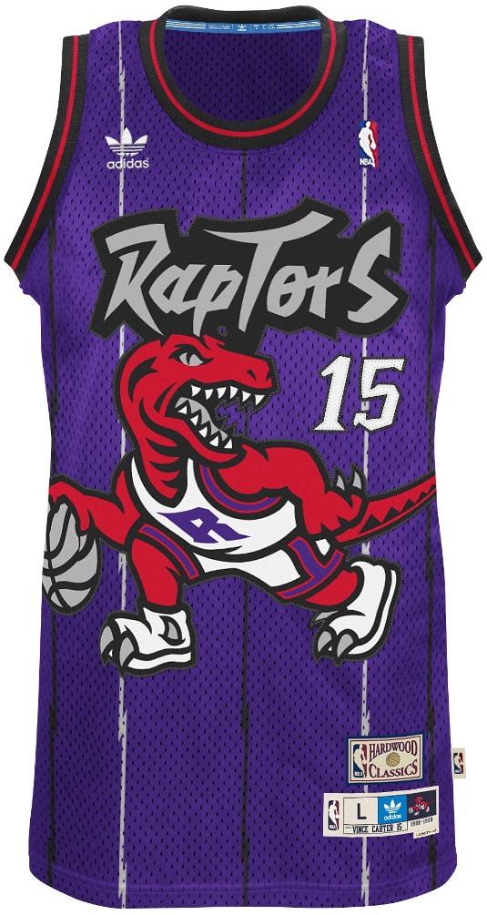 vince carter toronto raptors adidas nba throwback swingman jersey purple