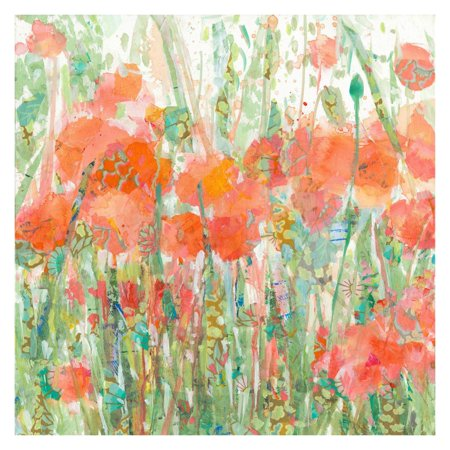 Marmont Hill Dewey Poppies Painting Wall Art -