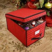 Whitmor Christmas Ornament Box Red  Walmartcom