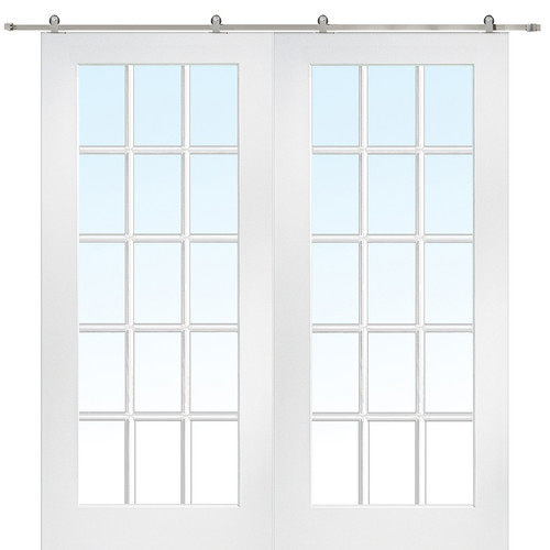 Verona Home Design MDF Primed Interior Barn Door