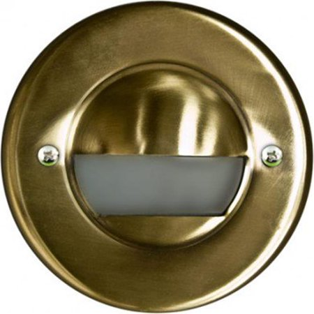 Dabmar Lighting LV709-ABS Brass Recessed Open Face Brick, Step & Wall Light, Antique Brass - 4.74 x 4.74W 2.24 in.