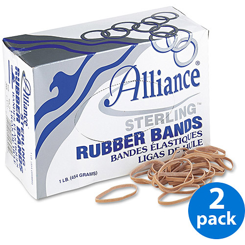 Alliance Sterling Ergonomically Correct Rubber Bands, #30, 2 x 1/8, 1500/Box, 2 Boxes