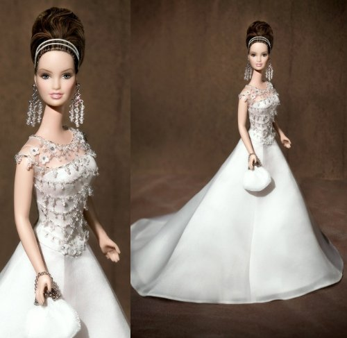 Mattel Badgley Mischka Bride Platinum Label Collectible B...