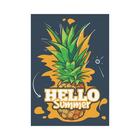 MYPOP Tropical Pineapple Palm Tree Garden Flag Outdoor Banner 28 x 40 inch ()