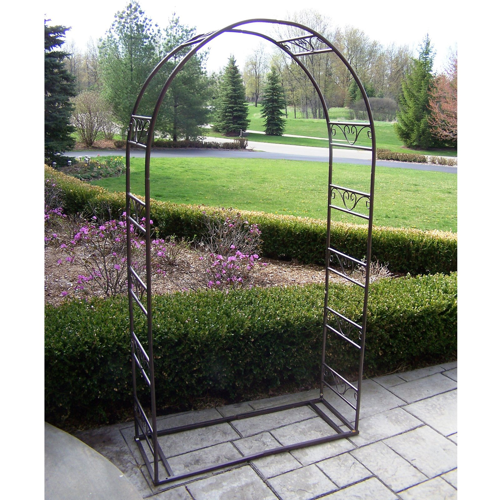 Oakland Living Tuscan Wedding 7.25-ft. Iron Arch Arbor by Oakland Living