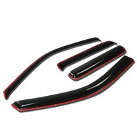 For 2004 to 2012 Chevy Colorado / GMC Canyon 4pcs In -Channel Window Visor Deflector Rain Guard (Dark Smoke) 05 06 07 08 09 10 11