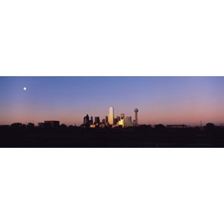 Sunset Skyline Dallas TX USA Canvas Art - Panoramic Images (18 x (Fun Places For Kids In Dallas Tx)