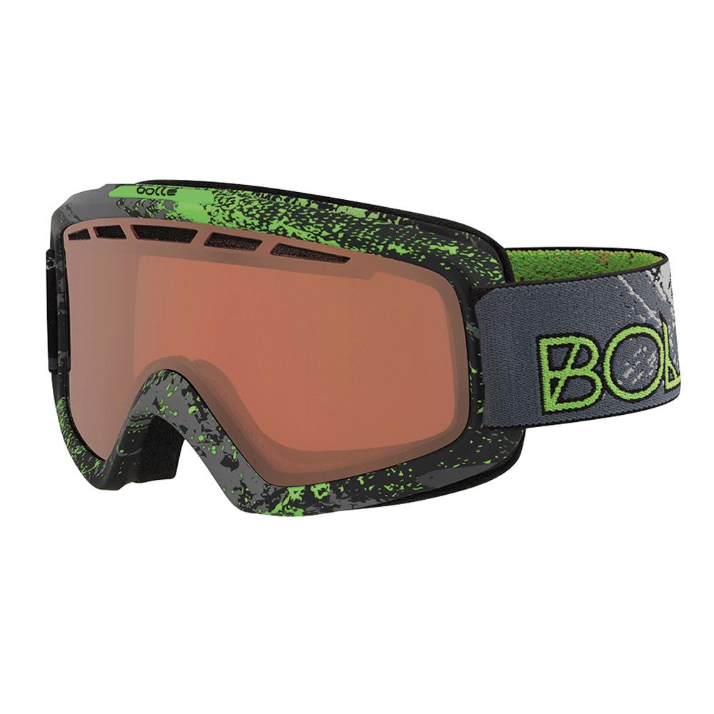 Bolle Winter Nova II Matte Green Zenith Vermillion Gun 21688 Ski Goggles M L by Bolle
