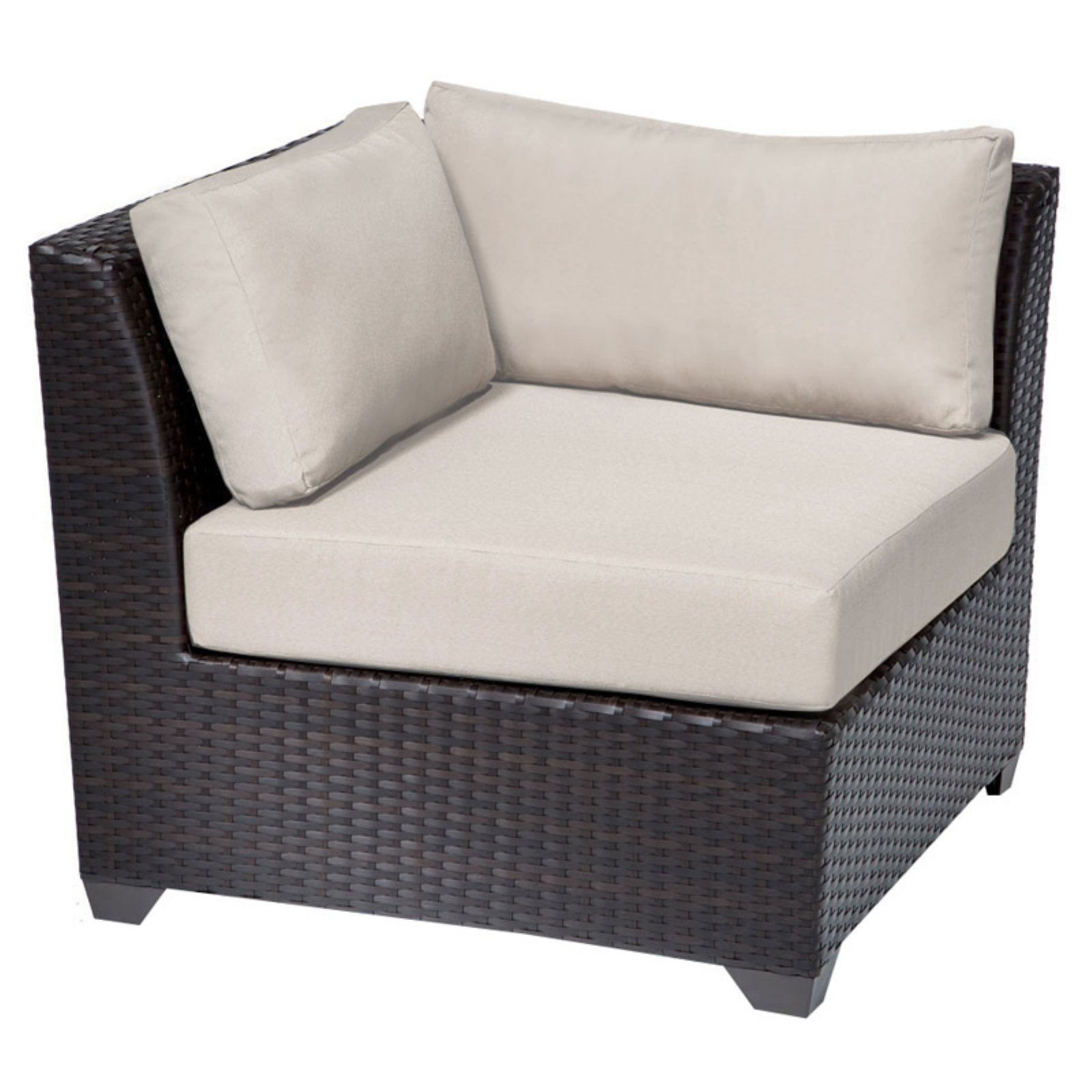 TK Classics Barbados Outdoor Corner Chair With 2 Sets Of Cushion Covers