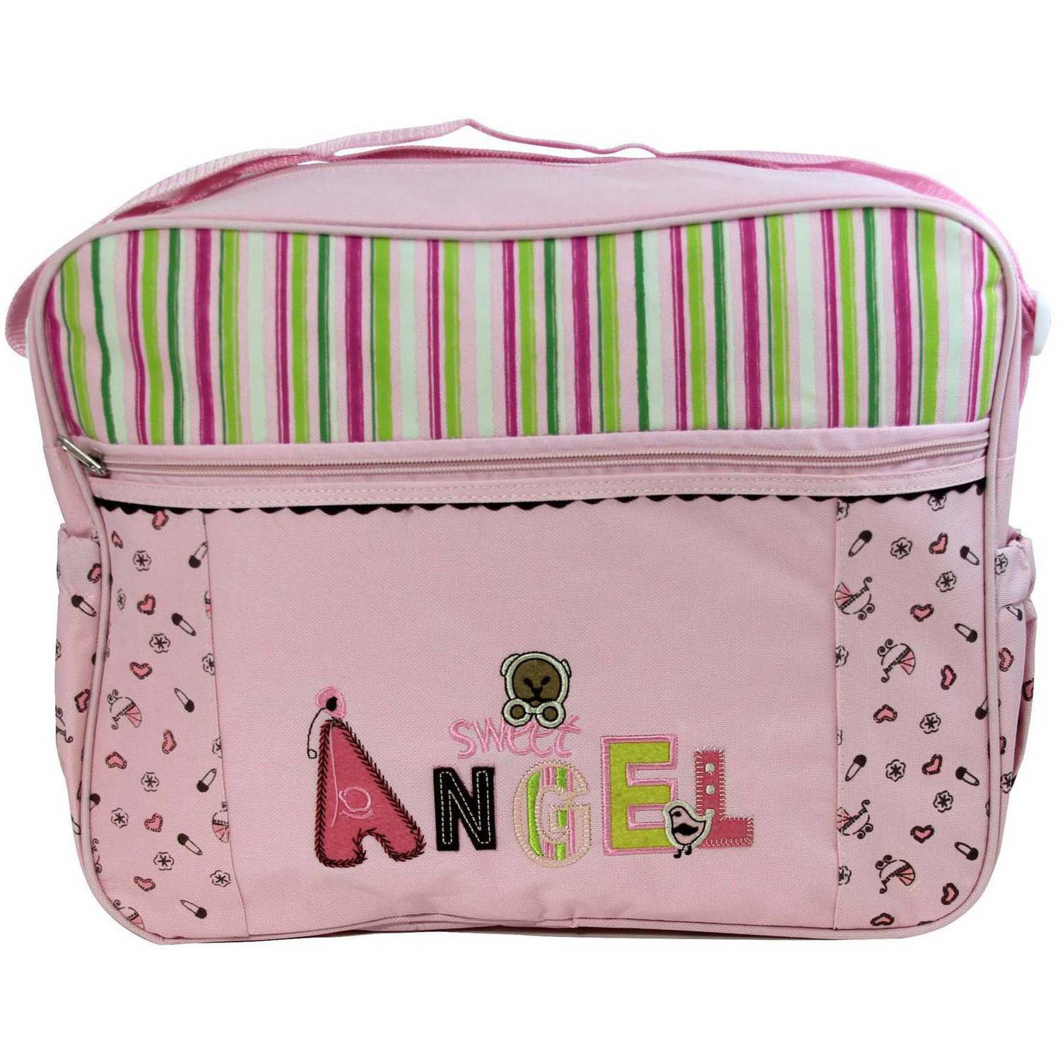 Baby Ziggles Heavy-Duty Diaper Bag, Pink