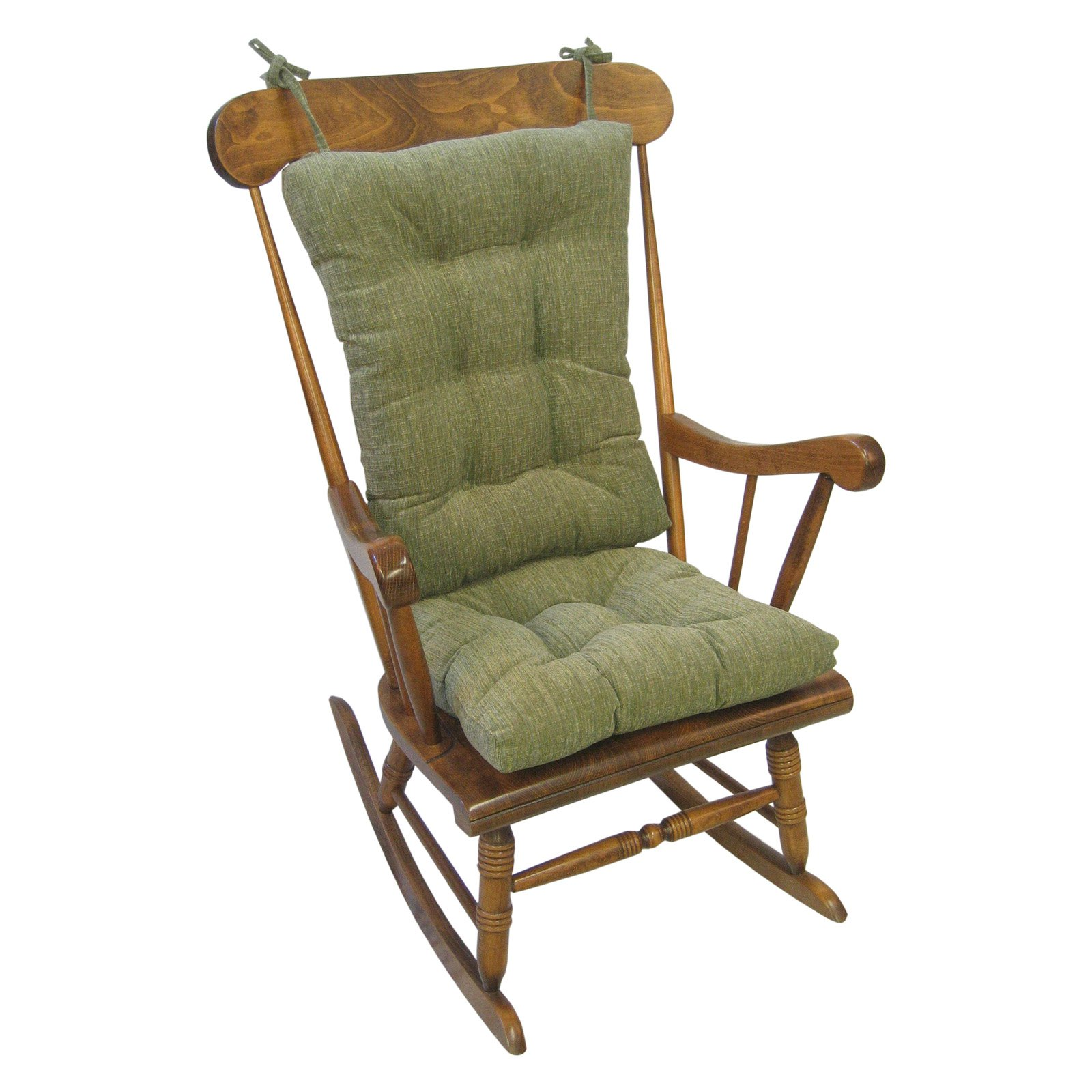 Klear Vu Gripper Polar Chenille Jumbo 2 Piece Rocking Chair Cushion Set
