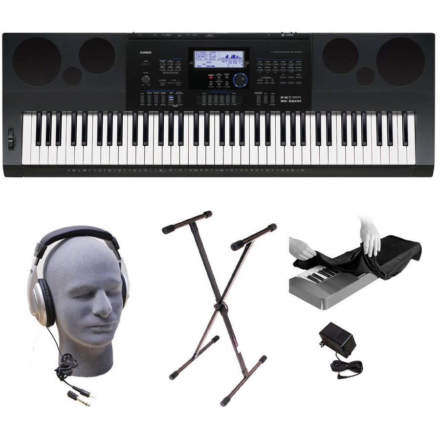 Casio WK6600 76-Key Premium Keyboard Pack with Stand, Power Supply, On-Stage Dust Cover... by Generic