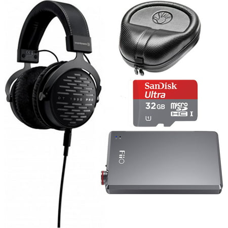 Beyerdynamic DT 1990 PRO 250 Ohm Open Studio Headphones with Fiio A5 Headphone Amplifier and Slappa HardBody Case Bundle