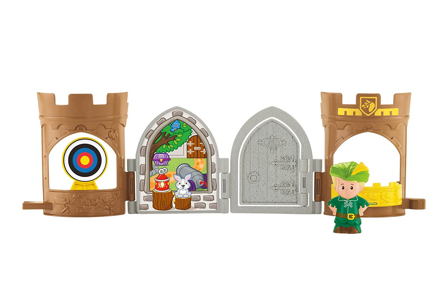 fisher price little people robin hood pop open castle target with arrow that pops in and out of the window by fisherprice ship from us walmartcom
