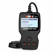 Ancel AD310 Enhanced OBD2 Scanner Code Reader Check Engine Light Clear Fault Trouble Codes View Freeze Frame Read Live Data Stream VIN OBD2 Automotive Diagnostic Scan Tool, Black