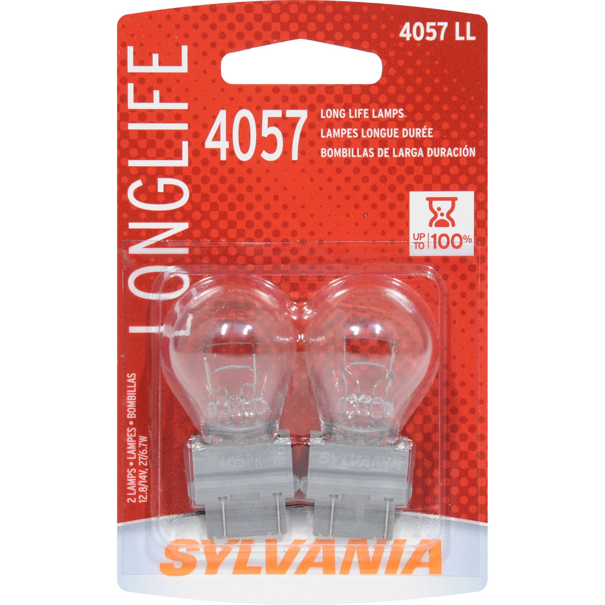 Sylvania 4057 Long Life Miniature Bulb, Contains 2 Bulbs