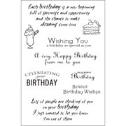"""Woodware Clear Stamps 4""""X6"""" Sheet-Special Birthday Sentiments"""